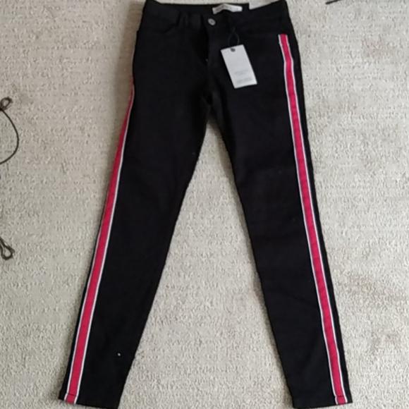 🌺3/$25🌺Zara Denim black pants, Sz 4, (NWT)